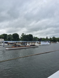 Umpire's boat: the great Sir Matthew Pinsent is there somewhere