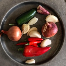 Shallots, chillies, garlic, ginger...