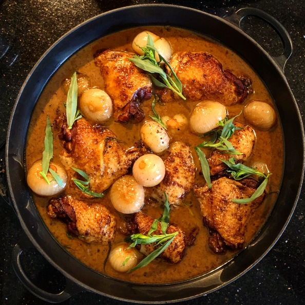 Chicken with Sherry Vinegar and Tarragon
